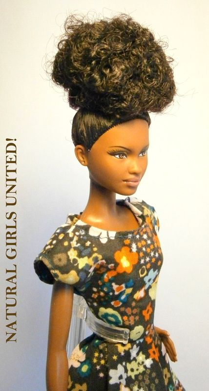 Curly Bouffant Updo Doll