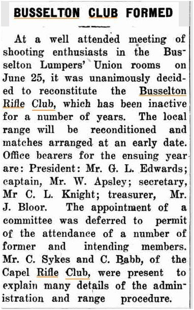 12 July 1928 Busselton RC Formed