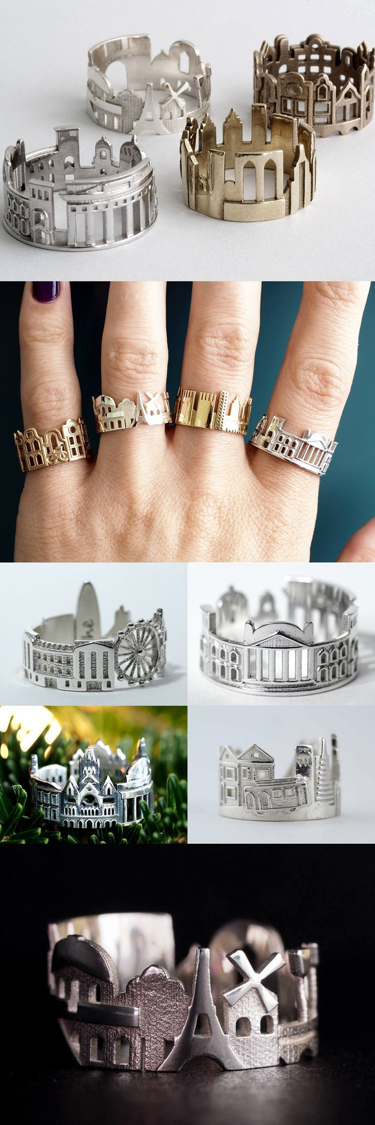 Cityscape Rings Feature Architectural Highlights of Iconic Cities ,  Weby