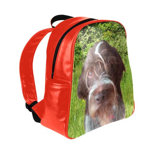 Dog and Flowers Multi-Pockets Backpack. FREE Shipping. #artsadd #lbackpacks #dogs