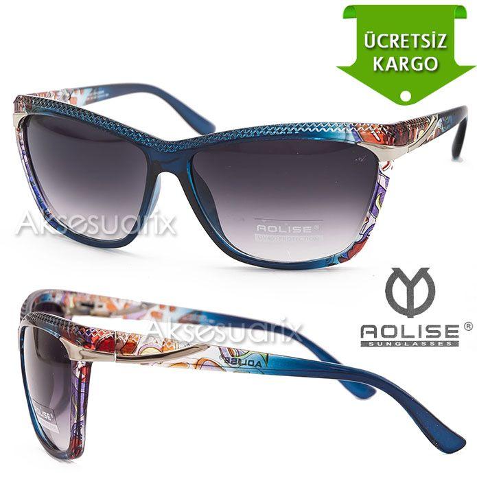 Vintage Aolise  Bayan Güneş Gözlüğü T51244 TURKUAZ http://www.aksesuarix.com/bayan-gunes-gozlugu