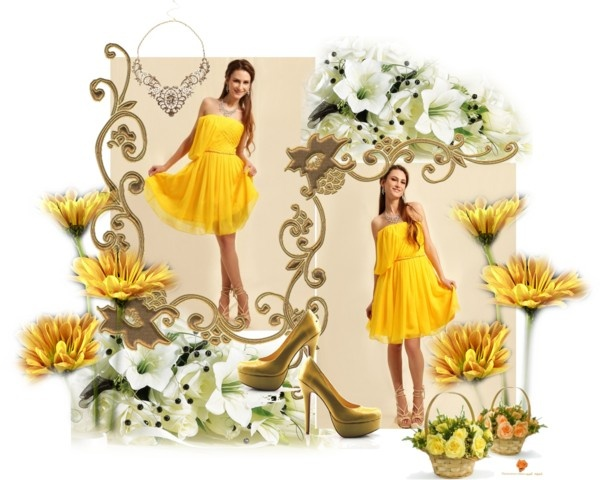 """""""Yellow spring"""" by persunmall ❤ liked on Polyvore"""