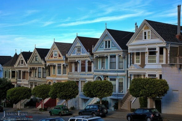 Painted Ladies in San Fransisco. This strip of houses are beautiful.