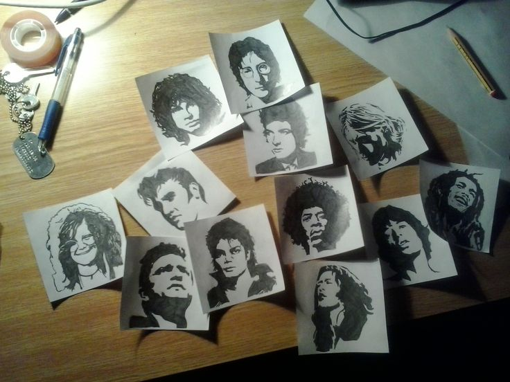 The legends - Stencil pencil drawing