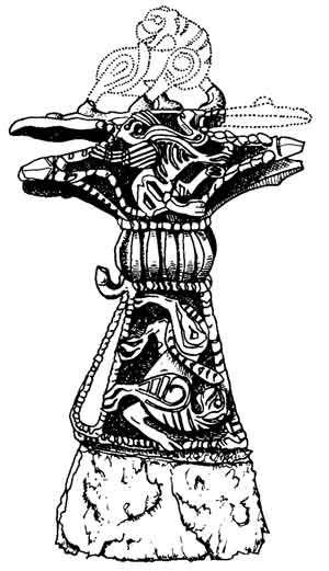 Топорик бронзовый со стальным лезвием IX–X века. Реконструкция Г. Корзухиной
