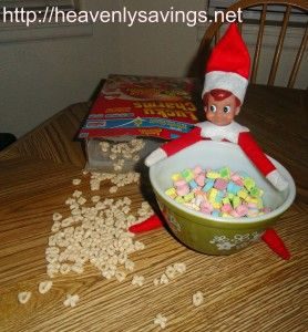 Oh No!!!! Elf on the Shelf has taken all the marshmallows out of the Lucky Charms..