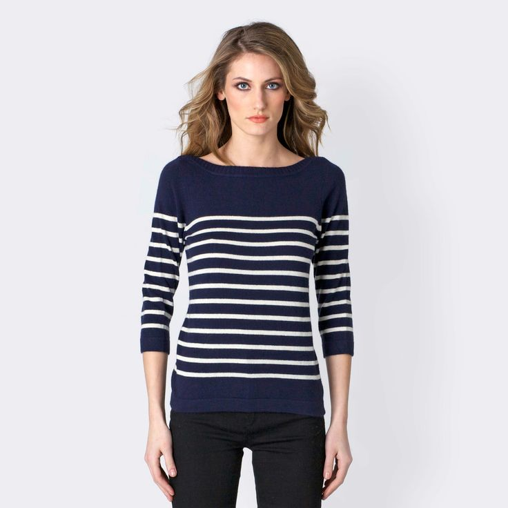 Classic boatneck nautical tee