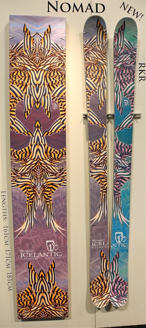 2013 Icelantic Nomad: Mountain Skis, Rocker, Beautiful Ski S