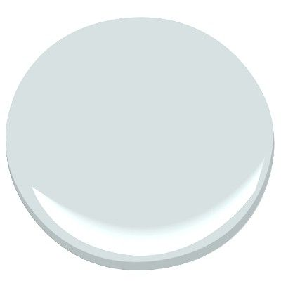 Benjamin Moore Iceberg: lovely, pale blue, very faint, adds a crisp background. Calming and restful in a bedroom.