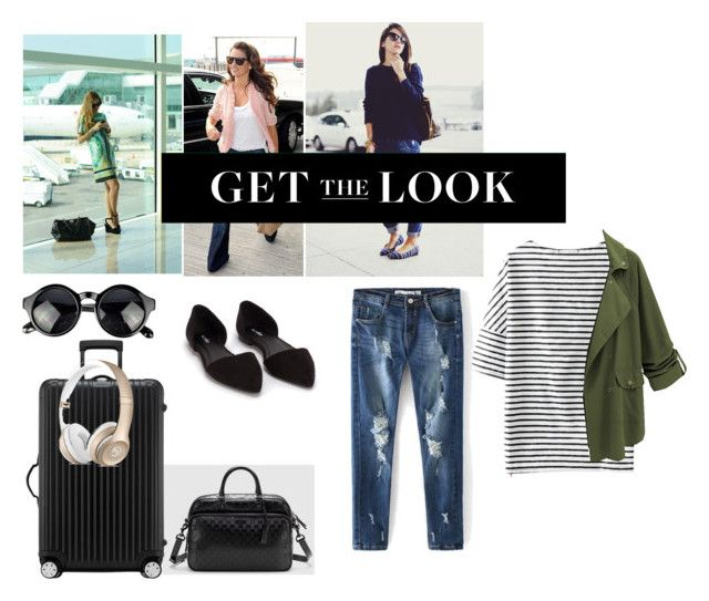 Celebrity Airport Style by flowerxan on Polyvore featuring Nly Shoes, Rimowa, Gucci and celebairportstyle