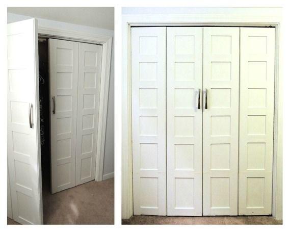 bifold closet door facelift