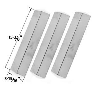 3 PACK STAINLESS STEEL HEAT COVER FOR BRINKMANN, UNIFLAME GBC091W, GBC831WB, CHARMGLOW & GRILL KING GAS GRILL MODELS