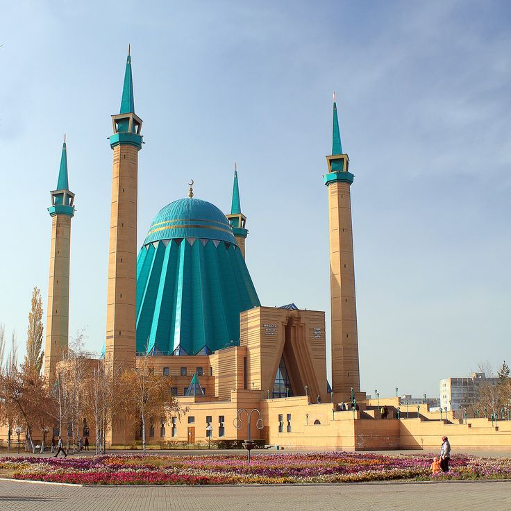 Central Mosque in Pavlodor, Kazakhstan