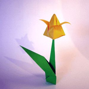 The origami tulip is relatively simple and looks so sweet when bunched together with other tulips, or different types of flowers.    Use lovely colourful paper for this one, it will brighten your day!