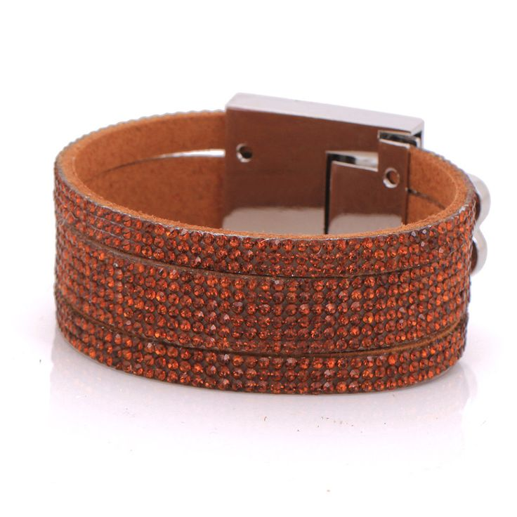 2016 new hot selling fashion leather bracelets & bangles for women christmas gifts colorful pulseras easy-hook bracelet lovely