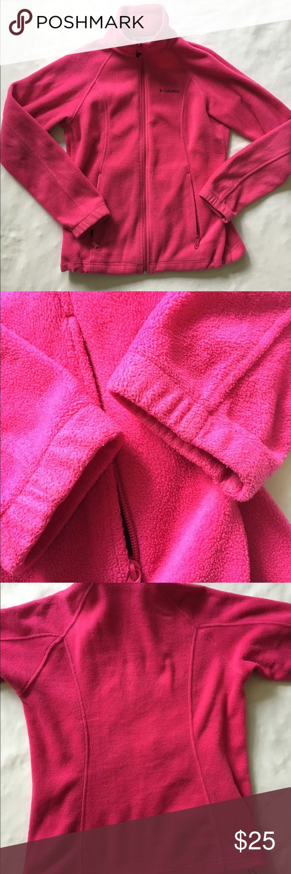 💥💥Bright pink zip up Like new Columbia Jackets & Coats