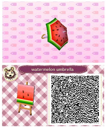 Watermelon Umbrella by Quirkberry - Animal Crossing: New Leaf