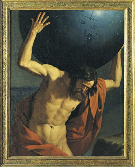 Giovanni Francesco Barbieri, known as Guercino, Atlas holding up the celestial globe