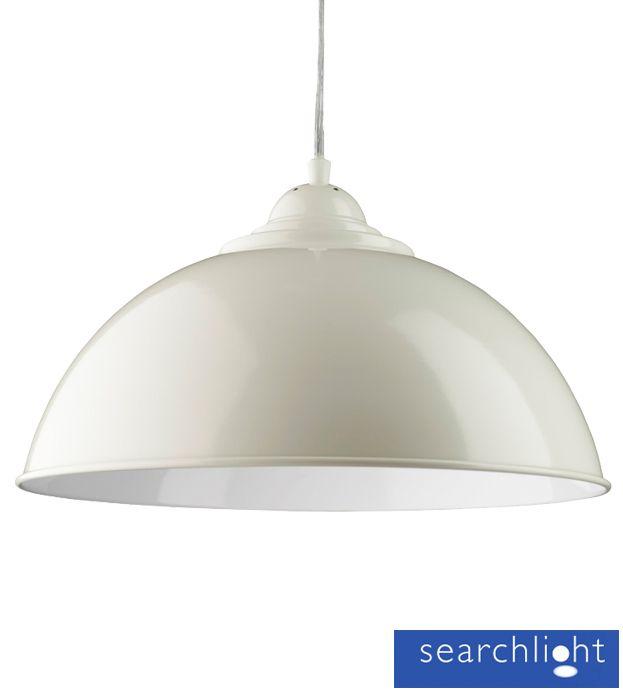 Bedroom Lamps Tesco: Searchlight 'Sanford' Half Dome Ceiling Pendant Light