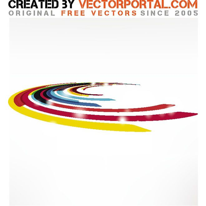 Abstract vector design object.