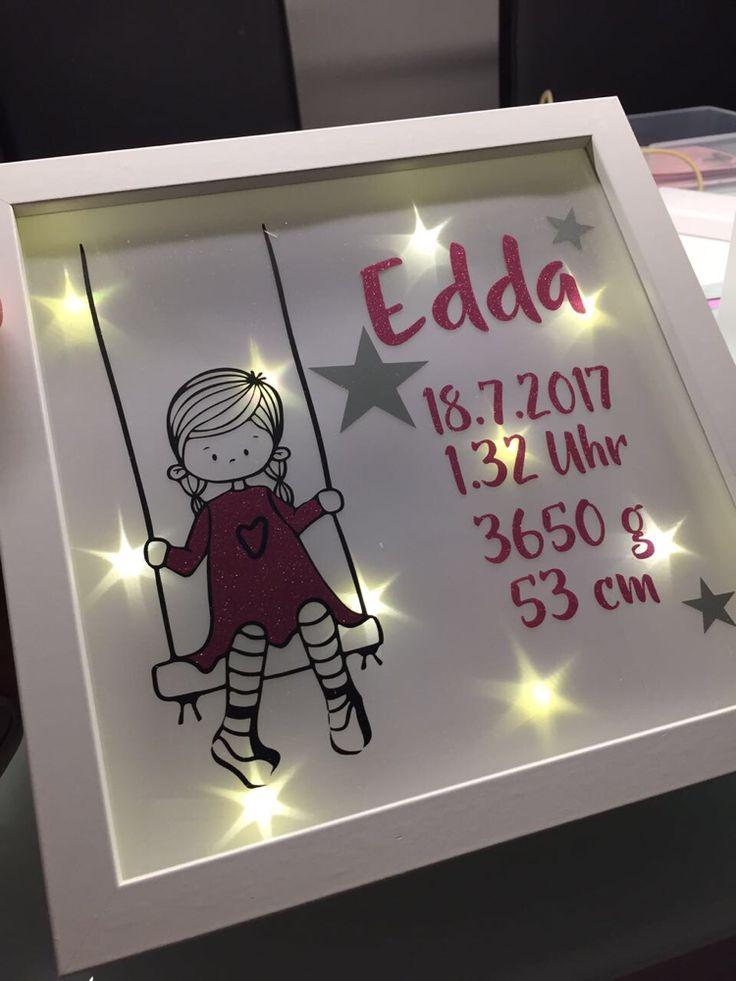Kreative Ideen aus Stoff & Co Personalisierte Geburtstagsgeschenke, LED Bilderrahmen, Kissen, Shirts, Taschen, Baby, Kinder, Newborn, Musselin, Halstücher