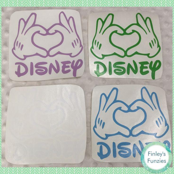 Love Disney, Disney fan car decal sticker, Decal Only! by FinleysFunzies on Etsy