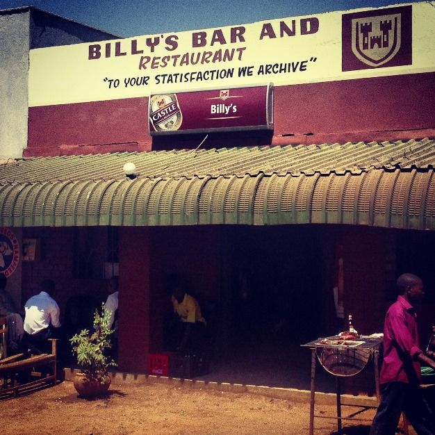 Funny Bar Signs - Billy's Bar from Zambia