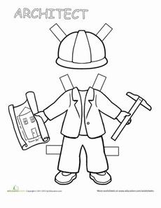 Career Paper Dolls: Architect Worksheet