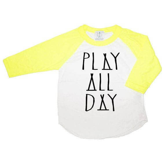 Play All Day Tee Toddler t-shirt tank top Trendy kids by SandiLake