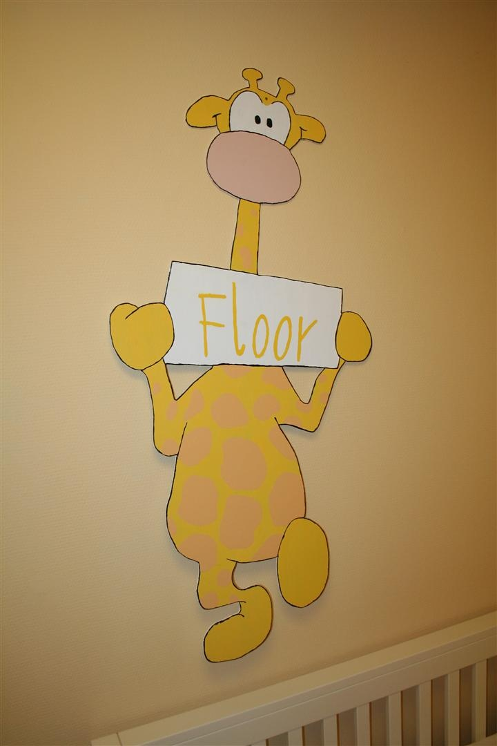 I made this for my daugther, when she was born we put this at the front door. Now it hangs in her room.