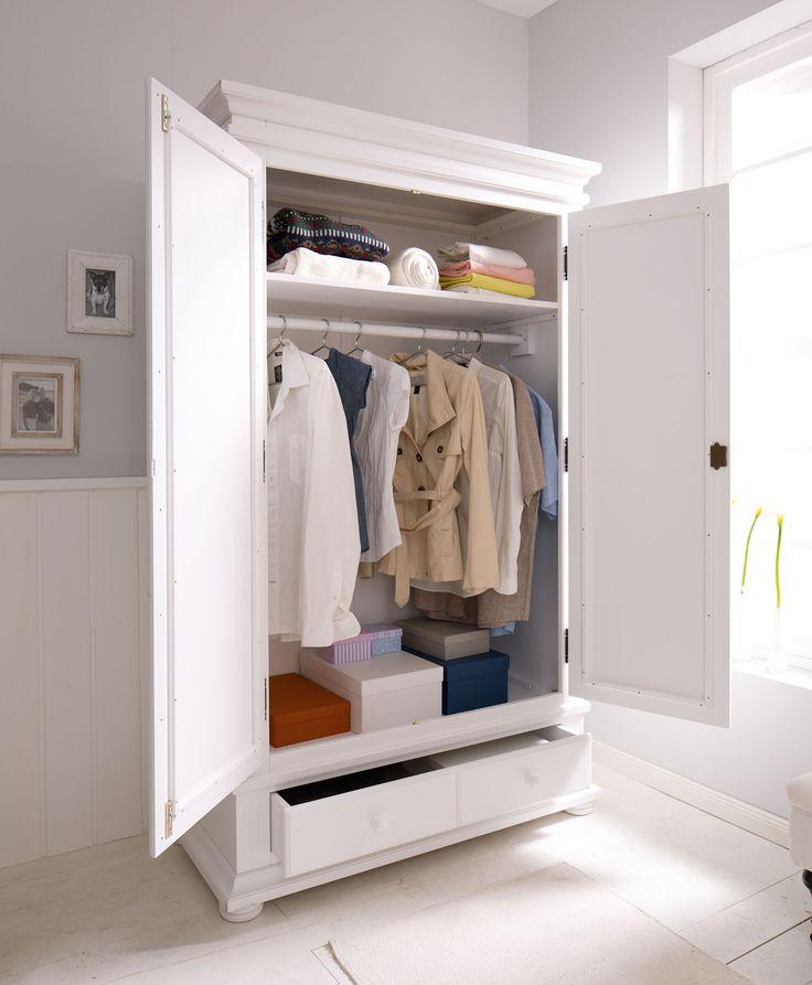 Luxury  t rig stabiler Kleiderschrank mit T ren Schublade und Kleiderstange