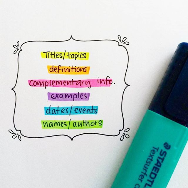 Have your own colour coding system for your study notes... . . .