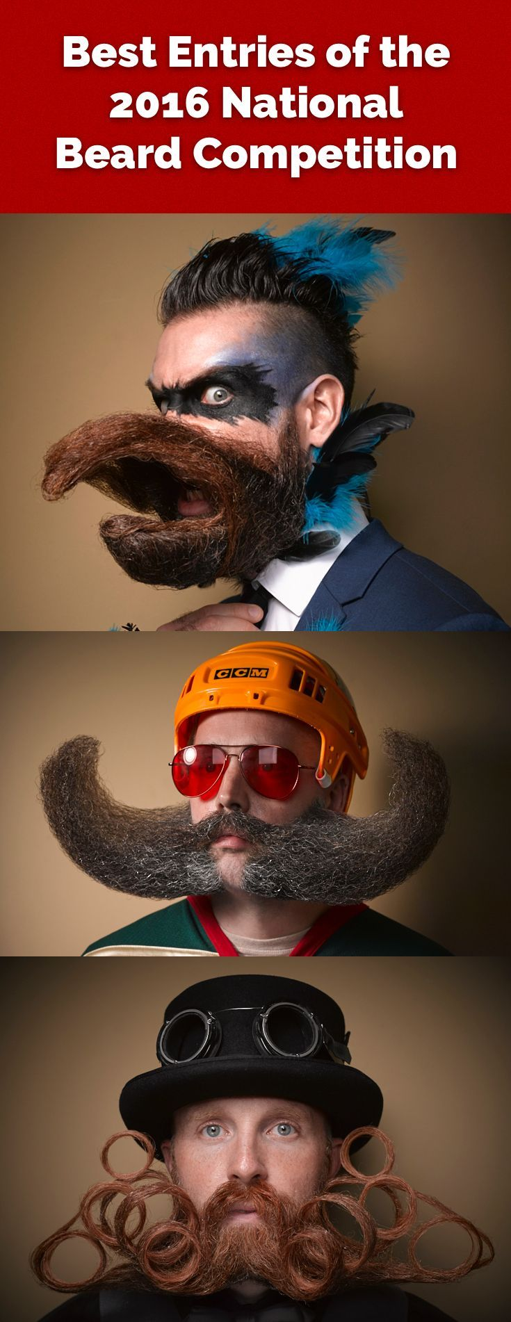 Best Entries of the 2016 National Beard Competition. The second entry is stunning.