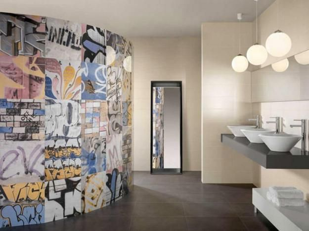 25 Interior Design Ideas Showing Top Modern Tile Trends 2014 Graffiti WallStreet Art