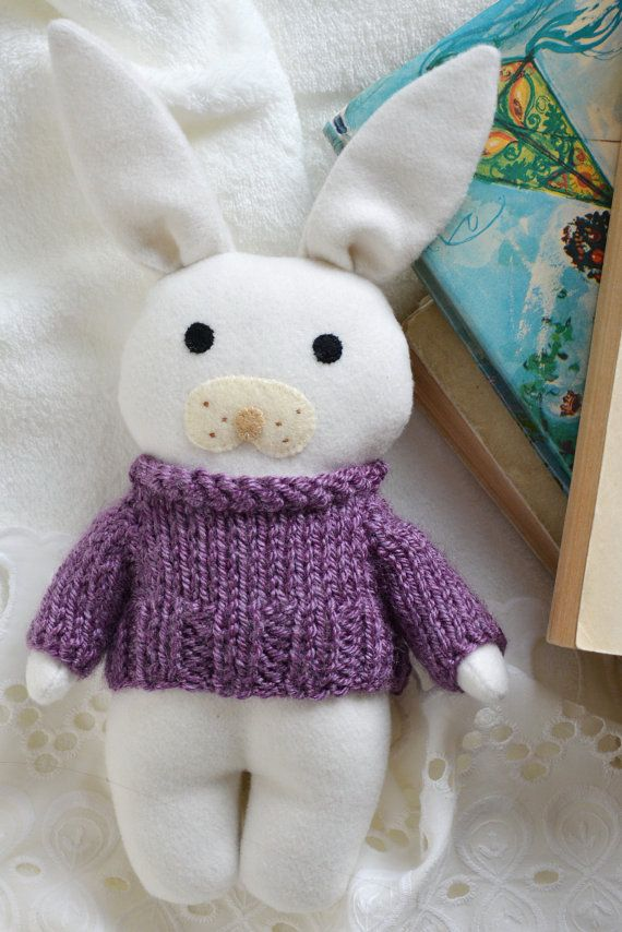 Lilie stuffed toy animal bunny rabbit gift for baby in by Fernlike