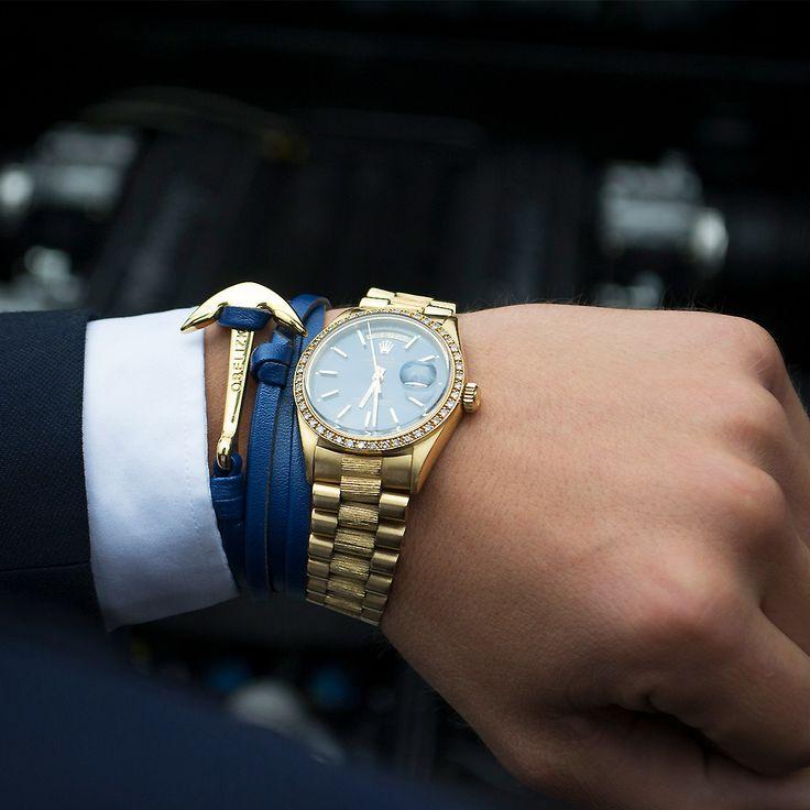 Super exclusive! Our Anchor Series - Gold Black Leather. Get it exclusively on www.obelizk.com #obelizk_bracelets #obelizk #menstyle #mensfashion #armband #watchporn #watch #watches #Bracelet #Jewelry #Hublot #RichardMille #AudemarsPiguet #Rolex #Cartier #UlysseNardin #Hermes #LouisVuitton #Watches #Fashion #Design #TheBillionairesClub #WatchAnish #Tourbillon #breitling