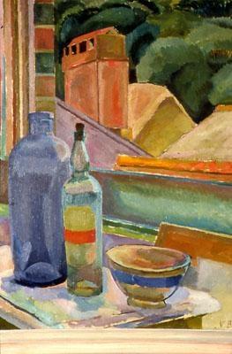 Bell, Vanessa - Window Still-Life - Bloomsbury Group - Still Life - Oil on canvas