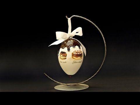 """Декупаж на яйце - Яйцо """"Сладости"""""""