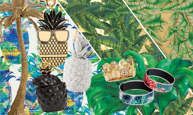 Тенденции дизайна: Тропики http://www.admagazine.ru/mebel/95778_tendentsii-dizayna-tropiki.php  Пальмы и ананасы, банановые листья и кактусы: для тех, кто еще не насладился главными хитами уходящего лета, мы нашли 20 предметов, которые можно купить в Москве.