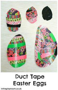 Easy duck tape easter egg craft for kids