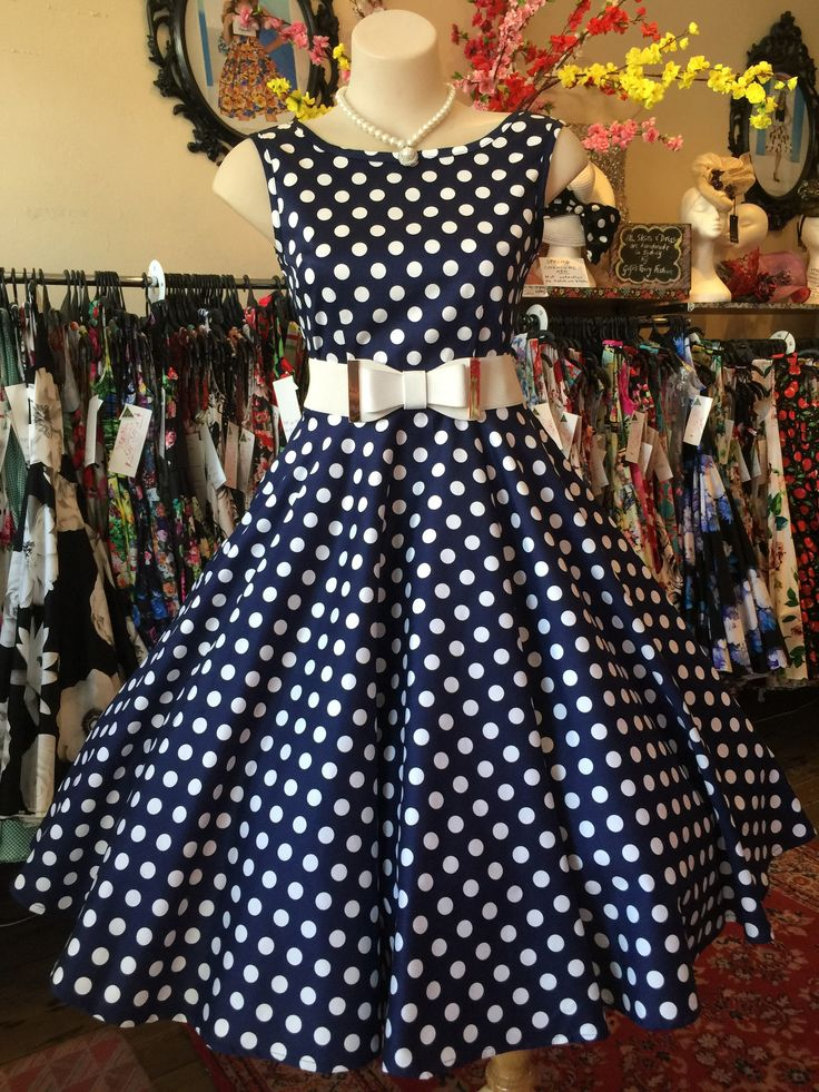 Navy Spot Classic Cut – GiGi's Fairy Fashion