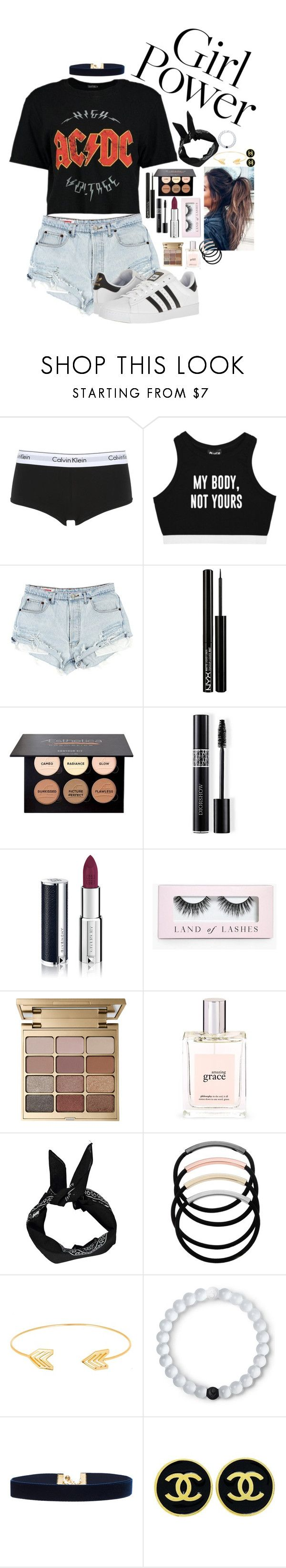 """---I GOT THE POWER---"" by ilovenialler24 ❤ liked on Polyvore featuring Calvin Klein Underwear, NYX, Christian Dior, Givenchy, Boohoo, Stila, philosophy, L. Erickson, Lord & Taylor and Lokai"