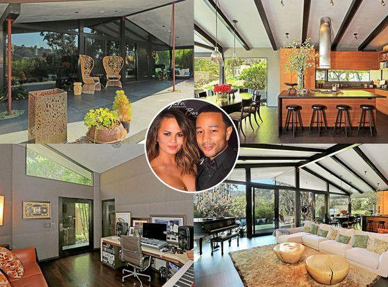 Chrissy Teigen and John Legend Are Selling Their Hollywood Hills Pad—Take a Look Inside!  Chrissy Teigen, John Legend, House