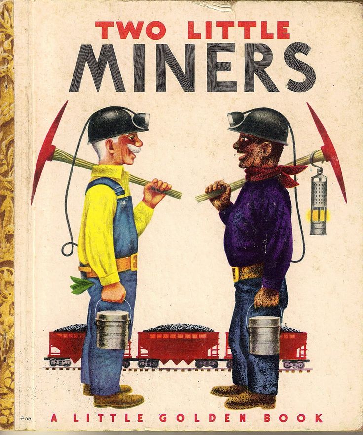 Two Little Miners Little Golden Book
