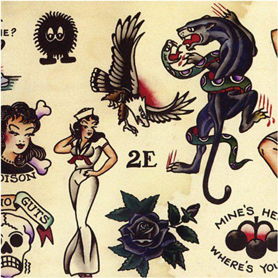 Sailor Jerry Bombs Away Tattoo Art Print//Poster
