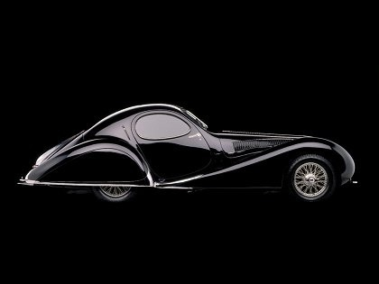 1938 Black Talbot Lago T23 teardrop coupe
