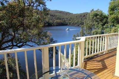 View over Berowra Waters from top deck