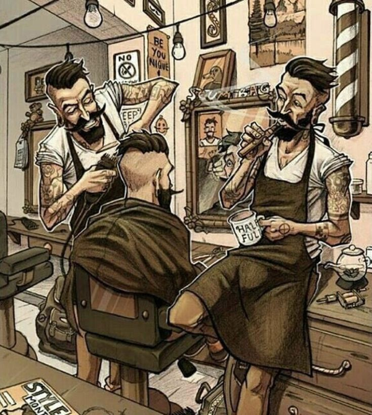 Смешные картинки про барбершоп