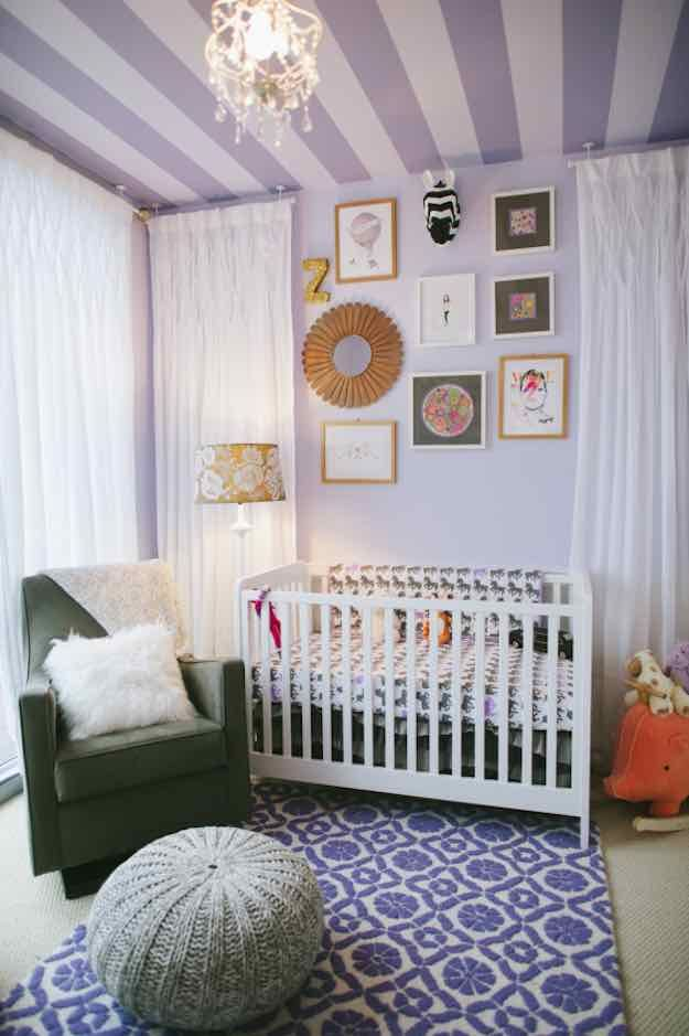 Purple Baby Room Themes | Baby Room Themes: 21 Ways To Design A Nursery | Living Room Ideas