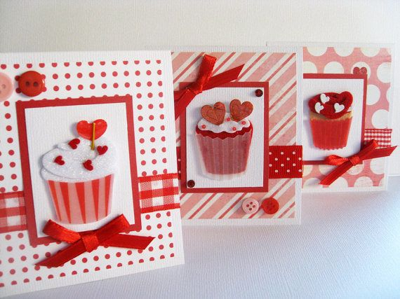 Small Valentine's Day Handmade Cards Sweet by MailboxMemories, $4.99